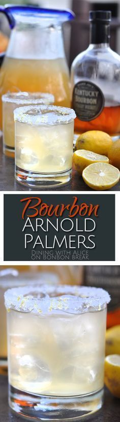 subtle bourbon flavor in these Arnold Palmer cocktails mixes with tea and lemonade to create a refreshing summer beverage.The subtle bourbon flavor in these Arnold Palmer cocktails mixes with tea and lemonade to create a refreshing summer beverage. Cocktail Mix, Cocktail Drinks, Cocktail Recipes, Drink Recipes, Party Drinks, Fun Drinks, Cheers, Bourbon Drinks, Summer Bourbon Cocktails