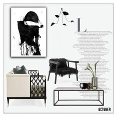 """October"" by frenchfriesblackmg ❤ liked on Polyvore featuring interior, interiors, interior design, maison, home decor, interior decorating, Flamant, L'Objet, Georg Jensen et Alexandra Von Furstenberg"