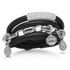 Story Jewellery's black lambskin bracelet