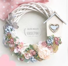 Wooden Wreaths, Christmas Swags, Easter Wreaths, Summer Wreath, Diy Wreath, Easter Crafts, Decor Crafts, Floral Arrangements, Floral Wreath