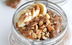 <p>This dreamy, creamy almond butter chia pudding is so easy to make. All you do is throw the main ingredients into a mason jar, shake it up, and then let it sit in the fridge overnight.</p>