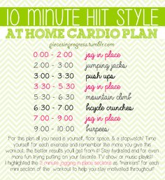 At Home Cardio HIIT