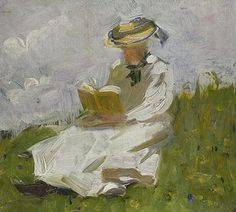 Franz Marc: Lesende Frau im Grünen. 1906