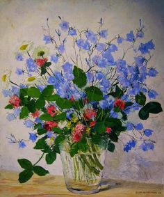 Still life with flowers by Olle Hjortzberg (1872-1959) Things of beauty I like to see