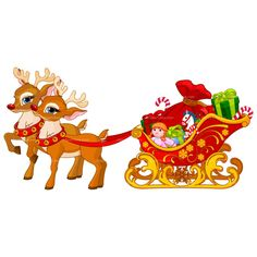 santa's sleigh drawing - - Yahoo Image Search Results