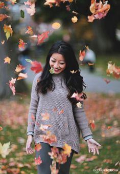 Casual fall outfit // Boston Public Garden foliage