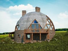 Yurt Home, Geodesic Dome Homes, Round Building, Off Grid House, Montana Homes, Cabana, Underground Homes, Dome House, Round House