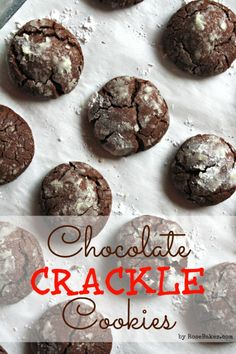 Easy Chocolate Crackle Cookies Recipe