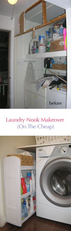 Laundry makeover with four simple upgrades (the last one's my favorite).