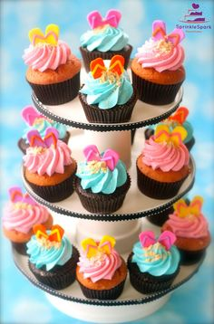 Hawaiian Theme Cupcakes