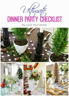 The Ultimate Dinner Party Planning Checklist Party Planning Checklist, Love Your Home, Christmas Ideas, Organizing, Decorating Ideas, Posts, Table Decorations, Dinner, Tips