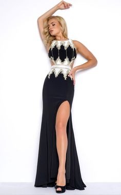 MAC DUGGAL Exquisitely Accented Column Gown BLACK 6 #30 #MACDUGGAL #BallGown #Cocktail