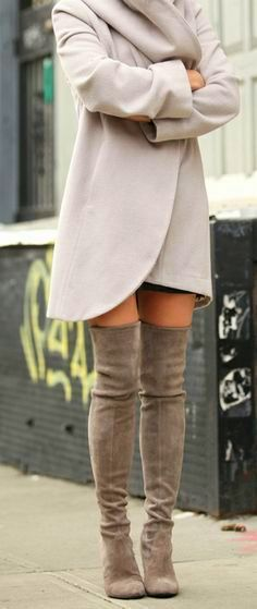Nubuck over the knee boots