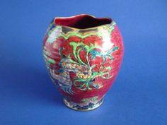 Royal Winton 'Chinese Dragon' Lustre Vase c1930