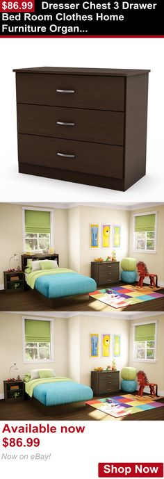 Baby Dressers: Dresser Chest 3 Drawer Bed Room Clothes Home Furniture Organized Storage Box New BUY IT NOW ONLY: $86.99