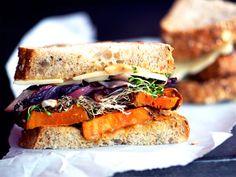 roasted yam and radicchio sandwich // via seriouseats.com