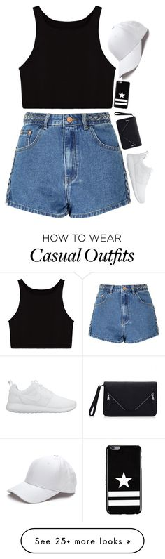 """""""casual walk to starbucks ;)"""" by julianamacasaya on Polyvore featuring Glamorous, NIKE and Givenchy"""