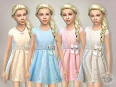 Eyelet Dress Found in TSR Category 'sims 4 Female Child Everyday'