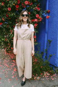 A spring outfit for under $150! Loving these linen overalls.