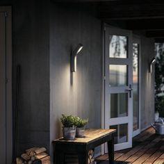 LED-Wandaußenleuchte Dunetop - dimmbar grau