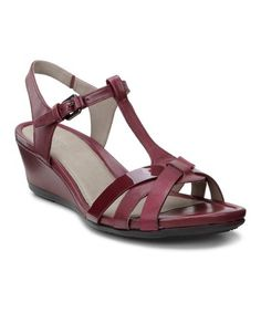 810898b5910d ECCO Red Morillo Leather Wedge Sandal - Women