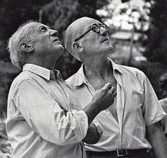 Picasso y Le Corbusier, en Marsella, en 1952. La historia de Picasso y Le Corbusier aparece en 'Modern man', la biografía del arquitecto suizo escrita por Anthony Flint.