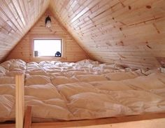 mattress covered loft, ideal sleepover. I always said I wanted a room that was just a giant mattress