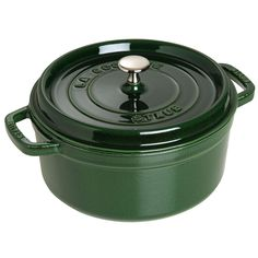 Staub Basil Round Cocotte - The choice of accomplished chefs, Staub cocottes are designed to concentrate flavorful juices, making them ideal for hearty stews, soups, roasts and braises.