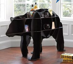 Who wouldn't want a bear bookshelf?