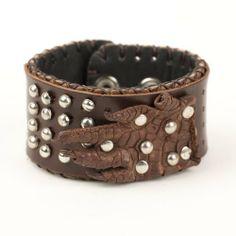 Brown genuine leather cuff wristband bracelet handmade by 81stgeneration 81stgeneration. $7.95. .