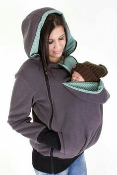 Baby Carrying Jacket, baby carrier coat, hoodie, mother and baby… Maternity Kangaroo baby pocket Hoodie with Babies Carrier Women front carrier Umstandskänguru-Babytasche Hoodie with Babies Carrier Women Front Carrier Artikelzustand: Neu The Babys, Baby Carrier Jacket, Baby Carrying, Mama Baby, Everything Baby, Baby Needs, Mother And Baby, Baby Time, Baby Outfits