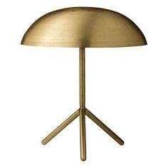 Lampe de table finition or brossé - Bloomingville