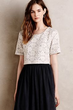 Laced Tulle Dress #anthropologie