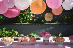 Colorful lanterns are an easy and inexpensive way to decorate for a baby shower.