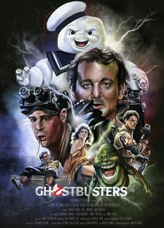 I was recently commissioned to create an alternative film poster for the classic movie, Ghostbusters. I wanted to combine the satire of the cast with the flashy, electrifying feel of the film. Poster Retro, Poster Print, Movie Poster Art, 80s Movies, Great Movies, Horror Movies, Ghostbusters Film, Original Ghostbusters, Love Movie