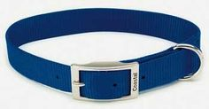Coastal Pet Products DCP90122BLU Nylon Standard Single Layer Dog Collar, 22-Inch, Blue * See this great product.