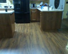 Alloc Laminate Flooring in the #kitchen Photo compliments: Melody J.  #flooring #alloc