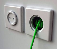 Rambler Socket Built-in Wall Extension Cord - i need one in every room.
