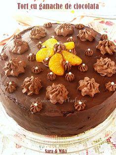 » Tort cu ganache de ciocolataCulorile din Farfurie Food And Drink, Cooking, Desserts, Cakes, Postres, Tart, Baking Center, Cake Makers, Kochen