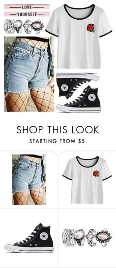 """""""Untitled #947"""" by my-designs-my-dream ❤ liked on Polyvore featuring Converse"""