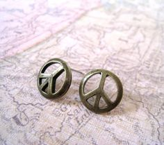 Peace (post) earrings