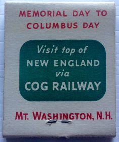 Cog Railway #matchbook - To design & order your business' own logo #matches GoTo: GetMatches.com #phillumeny