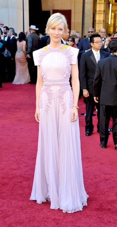 Cate Blanchett in lilac Givenchy (Spring 2011) Couture by Riccardao Tisci, at the Oscars in 2011. Photo: Getty.