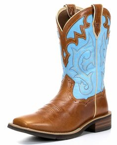 Women's Unbridled Boot - Coyote Brown/Cielo Blue: size 8.5