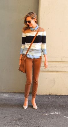 Fall outfits with layering sweater