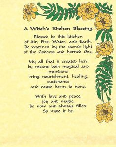 Witches Kitchen Blessing