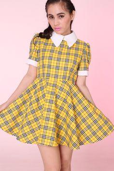 Image of MADE TO ORDER - Tartan Wonderland Dress in Yellow