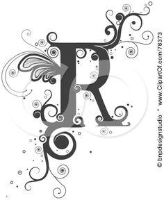 The letter R | Robin : identity : letter R | bw | ram55
