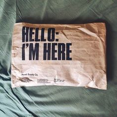 Mail #packaging design ideas. I love it when the boxes I get in the mail have fun typography on them.