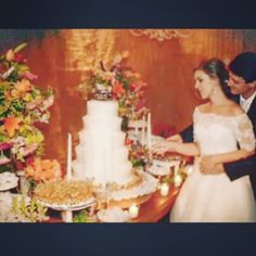Mesa de doces casamento Paolla e Celsinho by Armazém Espírito Sto
